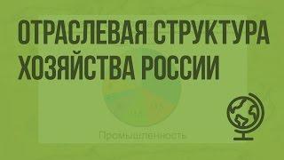 Отраслевая структура хозяйства России. Видеоурок по географии 9 класс