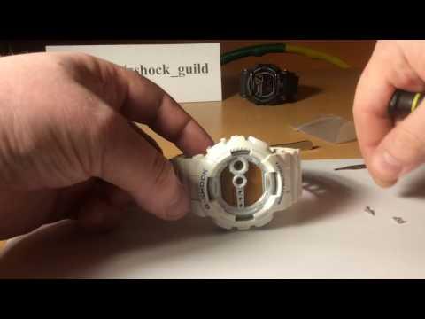 Снятие безель/рант с Casio G-shock GD-100-7E [3263]