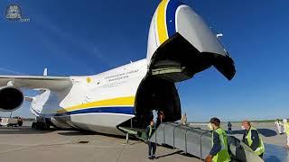Mighty Genuflection: Antonov 124 Kneeling Timelapse in Mirabel by DaddyG [AirClips]