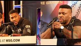 BRUTAL! - ANTHONY JOSHUA & BIG BABY MILLER GO AT IT HARD DURING PRESS CONFERENCE (STRONG CONTENT)