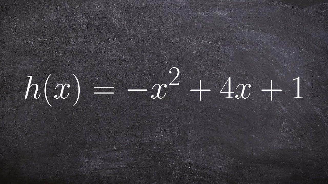 Precalculus  Solving Bypleting The Square By Factoring Out A Negative  One H(x) = X^2+4x+1