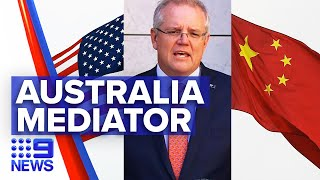 Morrison appeals for US and China to ease tensions | 9 News Australia