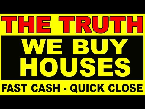 """Ever wondered about those """"We Buy Houses - Fast Cash!"""" signs"""