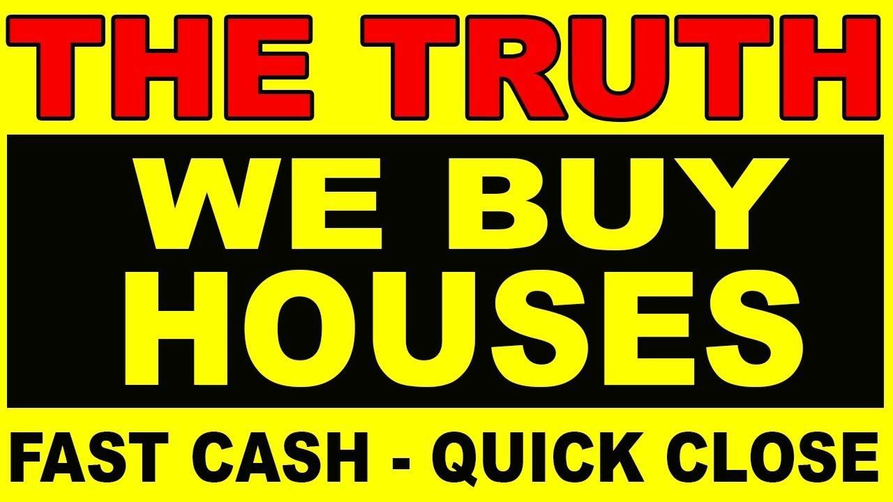 "Ever wondered about those ""We Buy Houses - Fast Cash!"" signs?"