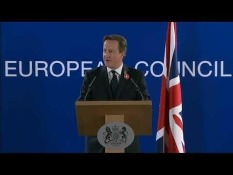 European Council - UK won't pay £1.7bn EU bill says David Cameron
