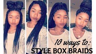 10 ways to: Style Box Braids