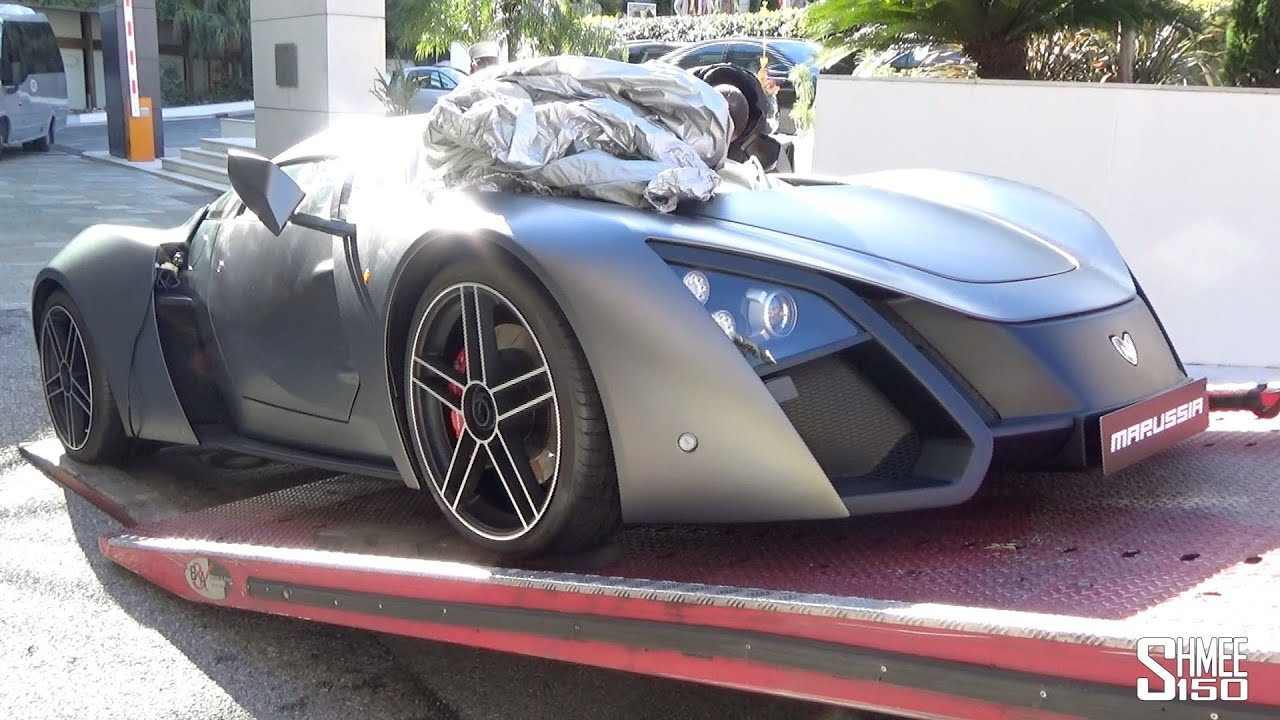 Exceptional Superieur Marussia B2 Russian Supercar Loaded Onto A Truck In Monaco YouTube