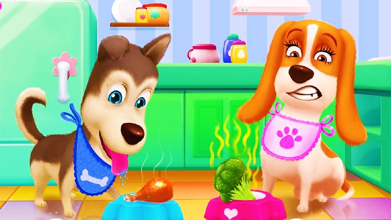 Dress up your pet game - Play With Cute Puppy Have Fun Together Fun Bath Time Pet Party Dress Up Care Game For Kids