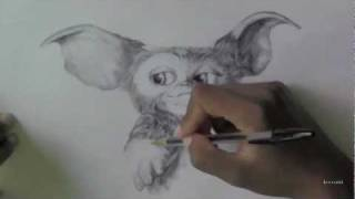 Gizmo from Gremlins Drawing