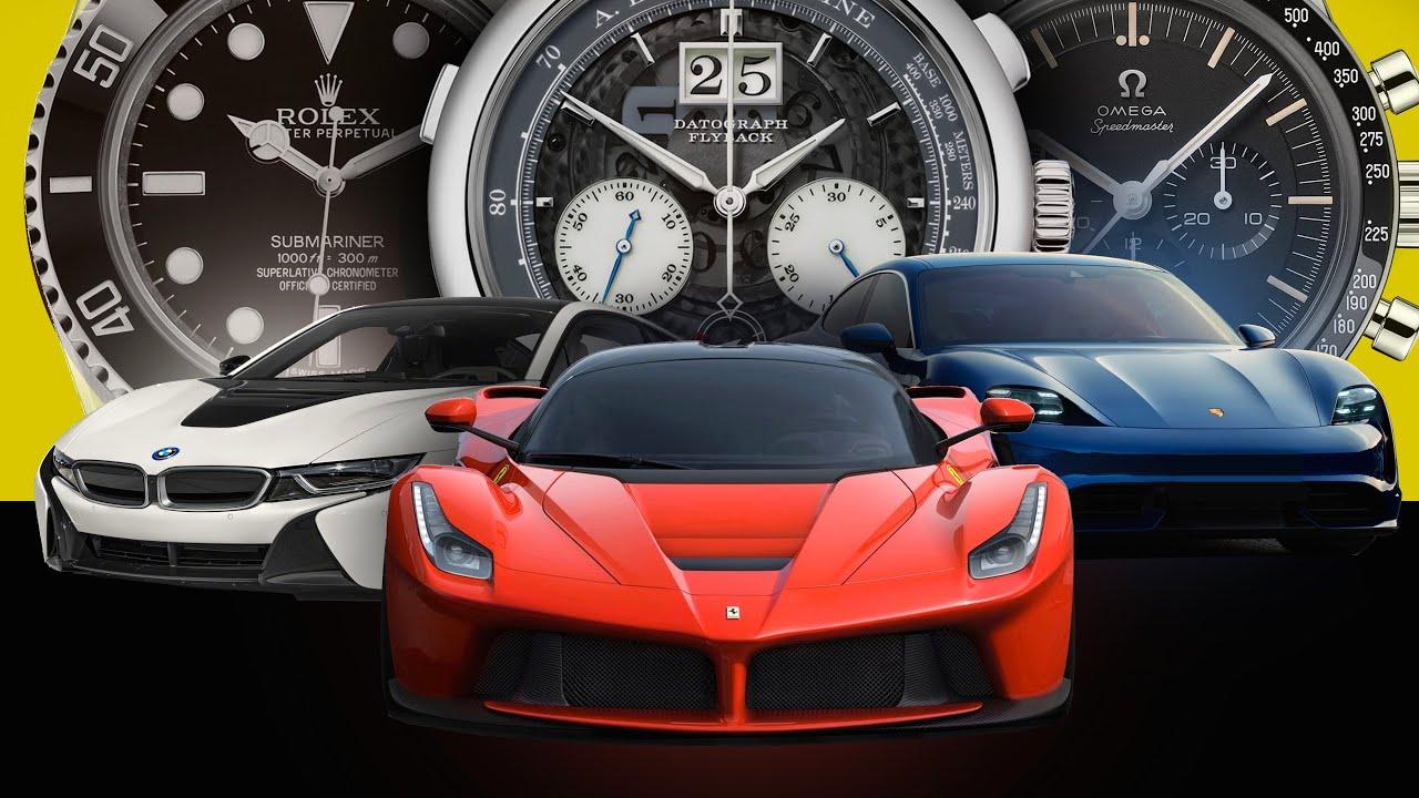 Watches Vs Cars Comparing Popular Manufacturers Ferrari Porsche Audi Bmw Mercedes Tesla Youtube