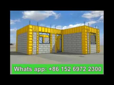 build house with concrete hollow blocks | laying cement brick | constriction engineer build house
