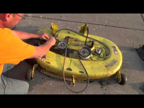 John Deere Spindle Replacement La120 Mower Deck Youtube