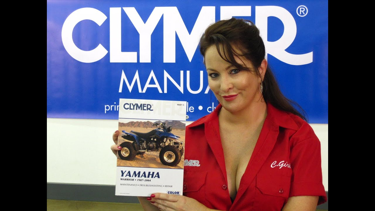 Clymer Manuals Yamaha Warrior Manual Yfm350x Yfm Yfm350 Atv Shop 350 Engine Schematics Service Repair Video