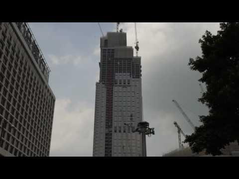 HONG KONG -  New World Centre Construction in 4K Video