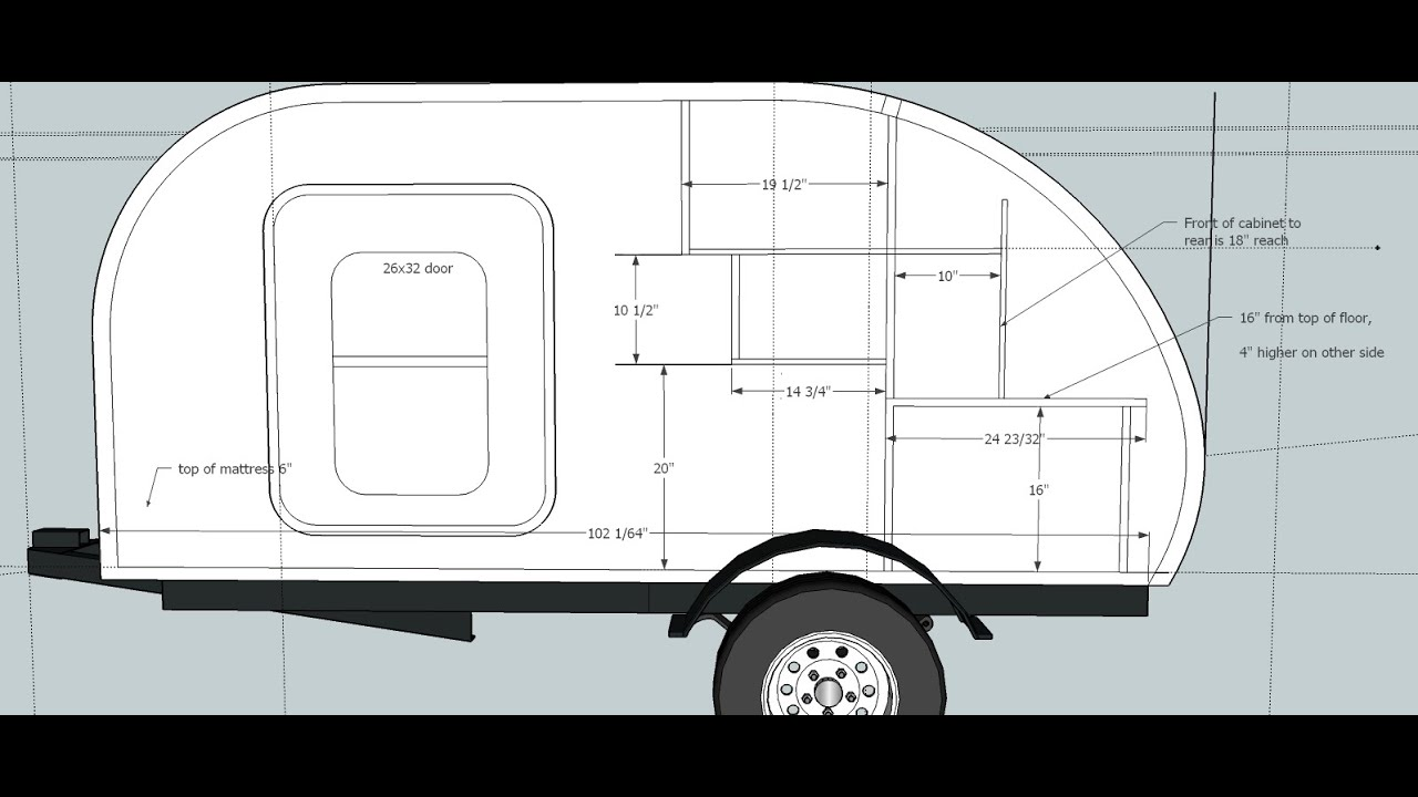 How to Build a Teardrop Camper #1 - The Template