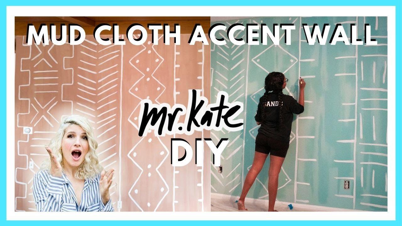 Trying A Mr Kate Diy Mud Cloth Accent Wall Quarantine Diy Tutorial Youtube