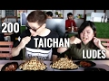 """FOOD BATTLE"" HABISIN 200 SATE TAICHAN ft bule kenkai vs mega lestary"