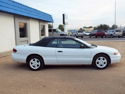 1997 Chrysler Sebring Convertible Low Miles Loaded 12280
