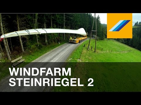 Expanding the windfarm Steinriegel at 1600m altitude
