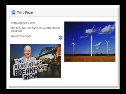 Alan Jones interviews Dr. Alan Watts on Wind Scam