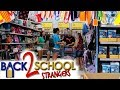 BUYING STRANGERS BACK TO SCHOOL SUPPLIES! SHOP WITH ME! EMMA AND ELLIE