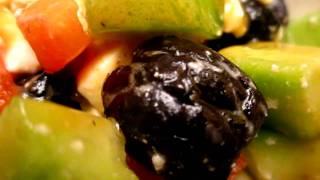 Cooking - Salad Of Cucumber, Tomato, Marinated Black Olive And Feta Cheese