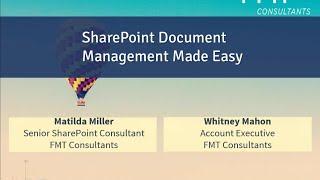 SharePoint Document Management Made Easy Webinar