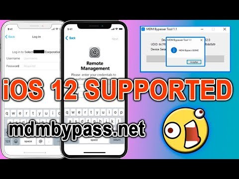 👉 How to Bypass MDM Management Lock iOS 12 x x on iPad iPhone iPod!  INSTANT MDMBYPASS