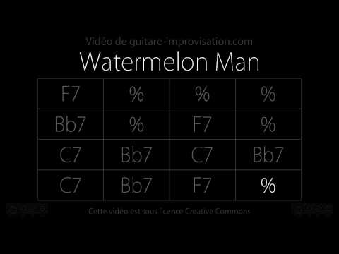 Watermelon Man : Backing track (16 bar Blues in F)