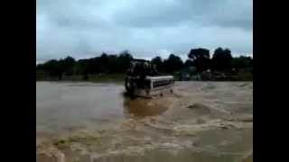bus full of passengers swept away in flood