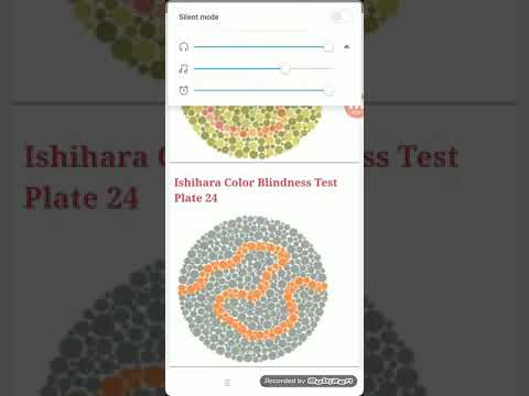 Indian army colour vision test