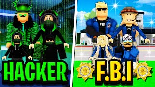 HACKER FAMILY vs FBI FAMILY in Roblox BROOKHAVEN RP!!