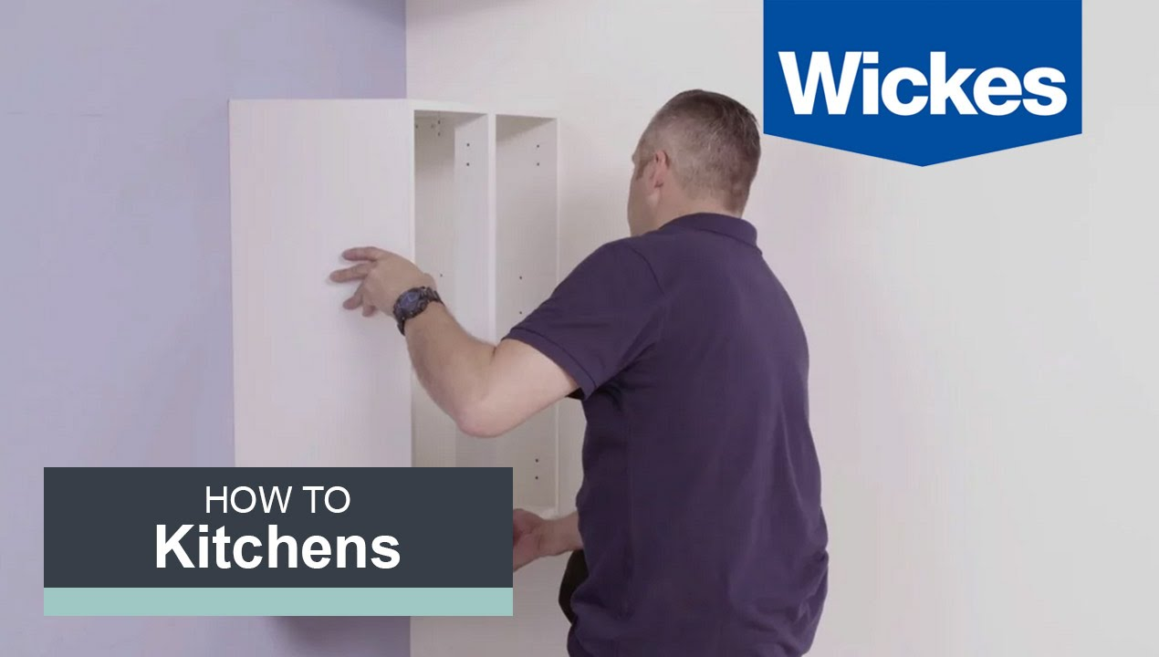 how to install cabinets in kitchen how to hang wall cabinets with wickes 17037