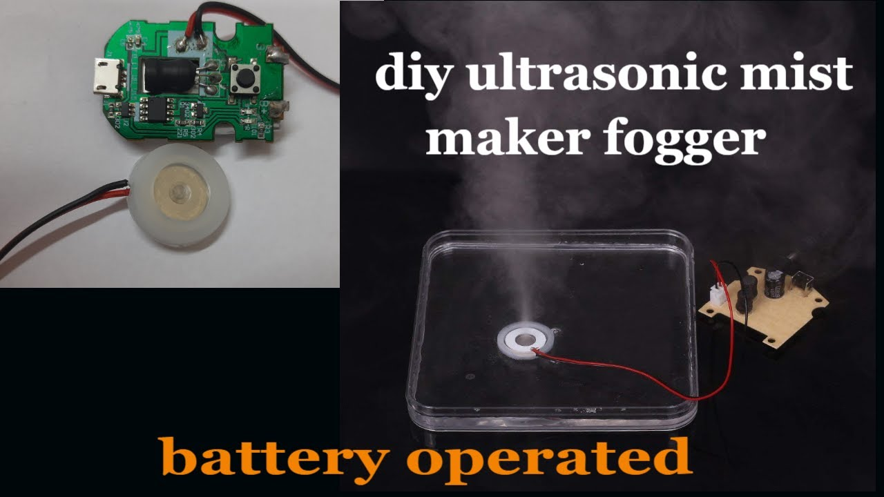 DIY ultrasonic mist maker module for humidifier sanitizer and mist fogger school college project