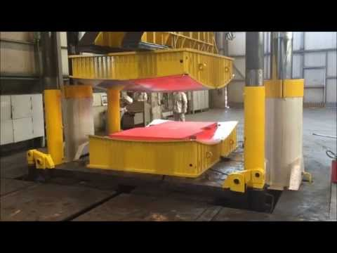 Hot forming the ITER vacuum vessel