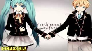 【Len kagamine & Hatsune Miku】-kimi no shiranai monogatari+mp3
