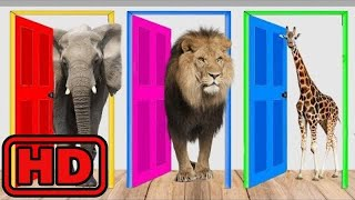 Kid -Kids -Names And Sounds Of ZOO Animals With Wooden Puzzle/ Learn Colors Nursery Rhymes for Kids