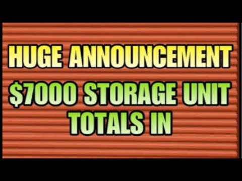 $7000 STORAGE $$ HUGE ANNOUNCEMENT How Much Did I Make? I BOUGHT AN ABANDONED STORAGE UNIT
