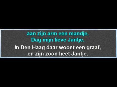 In Den Haag Daar Woont Een Graaf, instrumentaal met karaoke tekst