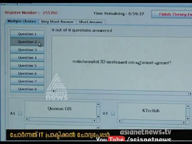 10th Class public IT Question Paper Leaked from Kannur | ചോദ്യ പേപ്പര്‍ ചോര്‍ന്നു