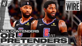 NBA CONTENDERS OR PRETENDERS   Through The Wire Podcast