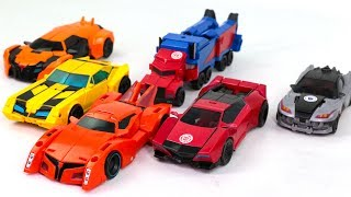 Transformers RID Optimus Prime Bumblebee Bisk Sideswipe Drift Knock Out Vehicle Cars Robots Toys