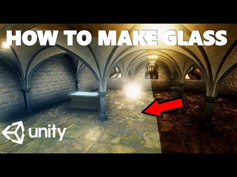HOW TO CREATE GLASS QUICKLY AND EASILY IN UNITY TUTORIAL thumbnail