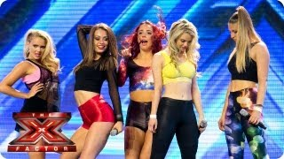 Euphoria Girls sing I Don't Care by Icona Pop - Arena Auditions Week 2 -- The X Factor 2013