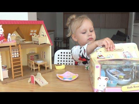 Сильвания Фемели ванная комната игрушка для детей Sylvanian Families Bathroom Toys For Kids
