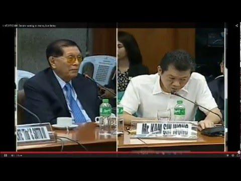 Philippines Senate hearing on Bangladesh Bank Money Laundering