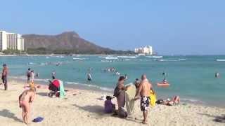 Waikiki Beach Hawaii Oahu 2014 HD