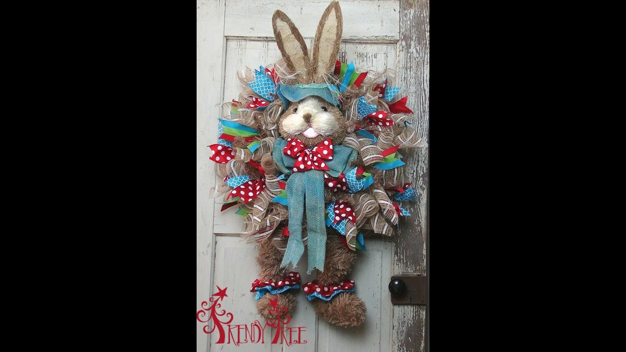 Diy Easter Bunny With Legs Wreath By Trendy Tree Youtube