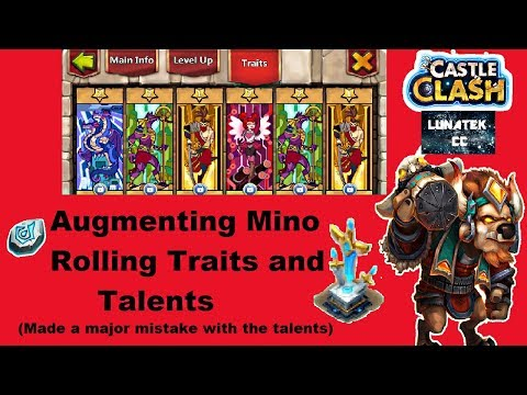 Augmenting Minotaur And Rolling Traits  Castle Clash
