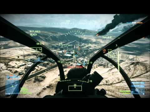 Battlefield 3 Helicopter and AA-tank gameplay